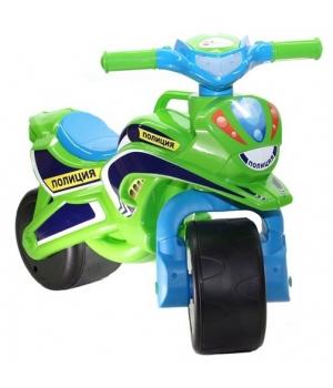 """Беговел мотоцикл-каталка """"Полиция"""" (салатовый), Doloni Toys"""