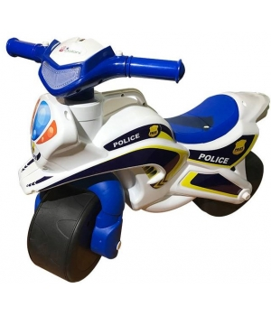 """Беговел мотоцикл-каталка """"Полиция"""" (бело-синий), Doloni Toys"""