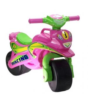 """Беговел мотоцикл-каталка """"Спорт"""" (розовый) музыкальный, Doloni Toys"""