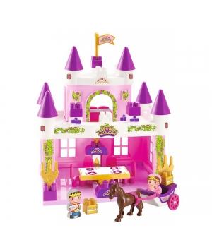Конструктор замок принцессы с 2 героями и каретой, Ecoiffier
