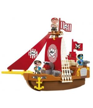 Конструктор пиратский корабль для детей, от 18 месяцев, Ecoiffier