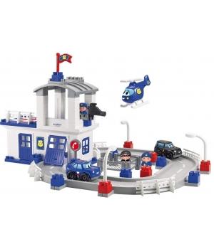 Конструктор полицейский участок с башней и вертолетом, Ecoiffier