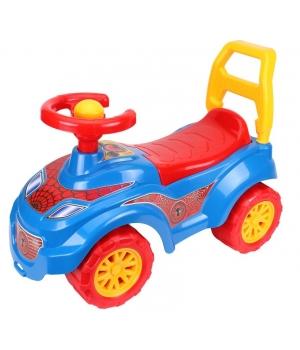 Машинка-толокар с рулем, Спайдер-Мен, красный, Технок