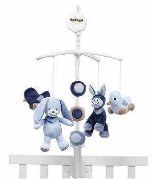 Мобиль на кроватку для новорожденного, с игрушками, Nattou