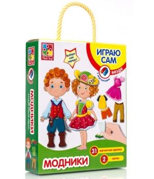 """Развивающая магнитная игра одевашка """"Модники"""" Vladi Toys"""