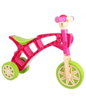 Беговел Ролоцикл розовый, для девочки, Технок