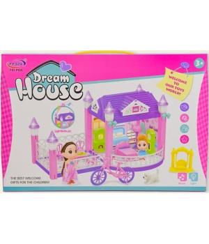 Кукольный домик для кукол (свет,звук,куколка,мебель)