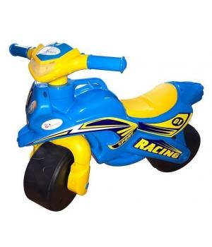 """Мотоцикл беговел для детей """"Спорт"""" (голубой) музыкальный, Doloni Toys"""