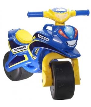 """Детский мотоцикл беговел для мальчика, """"Полиция"""" (музыкальный), Doloni Toys"""