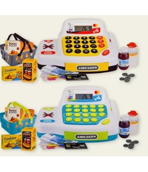 Кассовый аппарат детский с калькулятором и продуктами
