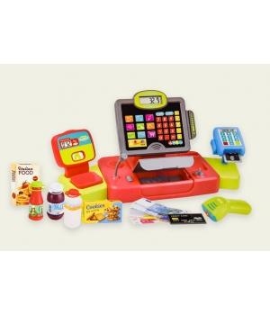 Кассовый аппарат детский со сканером, микрофоном и продуктами
