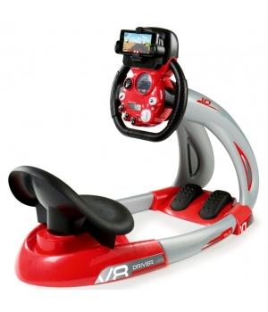 Детский руль с сиденьем и педалями, свет, звук, от 3 лет, Smoby