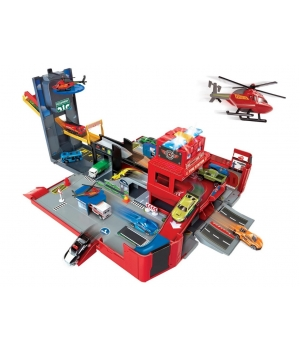 Пожарная станция игрушка 2 в 1 со световыми и звуковыми эффектами, Dickie Toys