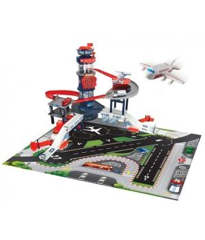 Игрушка аэропорт для детей со световыми и звковыми эффектами с транспортом, Dickie Toys