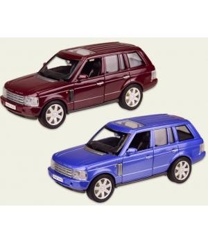 Машинка Джип Рейндж Ровер коллекционная модель LAND ROVER RANGE ROVER металлическая, 1:33, (вишневый, синий), Welly