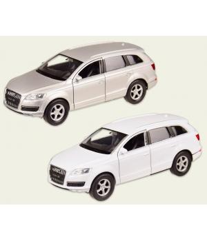 Коллекционная модель Ауди кью 7 (Audi Q7) машинка металлическая, 1:33, (белый, серебристый), WELLY
