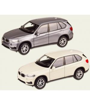 Коллекционная модель БМВ Х5 (BMW X5) машинка металлическая, 1:32, (белый, серебристый), WELLY