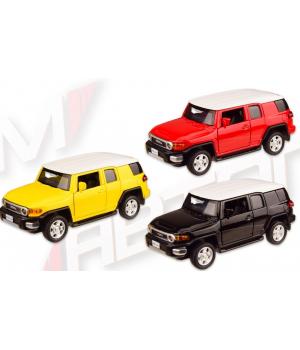 Машинка Джип Тойота ФЖ Крузер коллекционная модель TOYOTA FJ CRUISER металлическая, 1:43, (3 цвета), Автопром