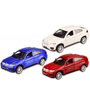 Коллекционная модель БМВ Х6 (BMW X6) машинка металлическая, 1:43, (3 цвета), Автопром