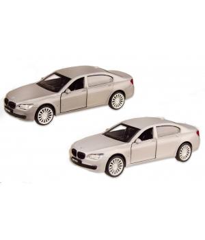 Коллекционная модель БМВ 760 (BMW 760LI) машинка металлическая, 1:46,(белый,серебристый), Автопром