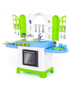 """Игрушечная кухня с раковиной, духовкой, посудкой, """"Натали"""", Полесье"""