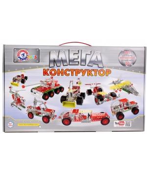Конструктор металлический МЕГА, 381 деталь, Технок 4364