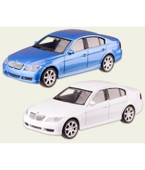 Коллекционная модель БМВ 330 (BMW 330I) машинка металлическая, 1:43, (белый, синий), WELLY