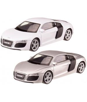 Модель Ауди Р8 1:43, машинка металлическая AUDI R8, 2 цвета, WELLY