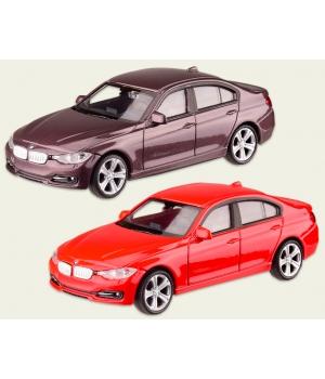 Коллекционная модель БМВ 335 (BMW 335i) машинка металлическая, 1:43, (красный, вишневый), WELLY