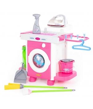 Детский набор для уборки (стиральная машина, утюг и гладильный столик) Carmen №6, Полесье