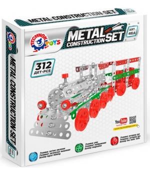 Металлический конструктор Поезд, 312 деталей 4814, Технок