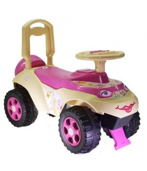 Детская машинка толокар для девочки, музыкальная, Doloni Toys