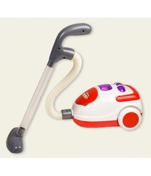 Игрушка маленький пылесос для детей на батарейках со светом