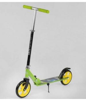 Самокат двухколесный зеленый, с большими колесами, складной, Best Scooter