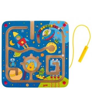 Магнитная игра лабиринт космос для детей, Goki