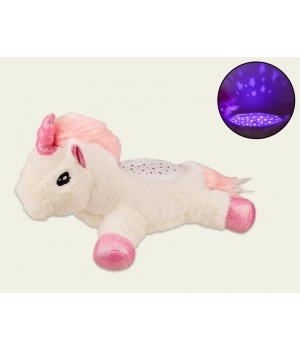 Ночник игрушка светильник Единорог с проекцией звездного неба, Funmuch