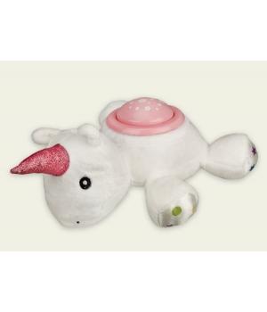 Мягкая игрушка ночник Единорог, музыкальный (свет, звук)