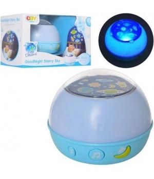 Музыкальный ночник проектор звездное небо (свет, звук)