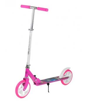 Самокат розовый двухколесный, для девочки, складной, с большими колесами, Best Scooter