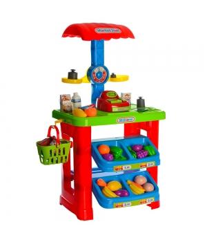 Игрушка супермаркет с кассой (весы,корзина,продукты)