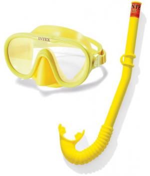 Детская плавательная маска с трубкой , от 8 лет, Intex