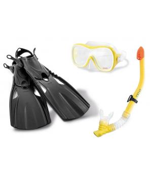 Детская маска и ласты для подводного плавания с трубкой, от 8 лет, Intex