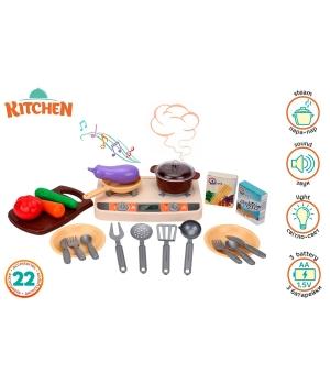 """Игрушечная маленькая кухня для девочки, """"Kitchen Set"""", 22 детали, Технок"""