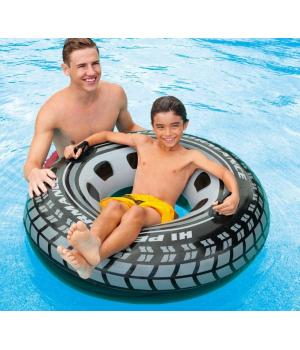 Надувной круг для детей шина, винил, 114 см, от 9 лет