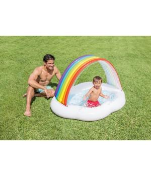 Надувной бассейн с крышей детский, Intex