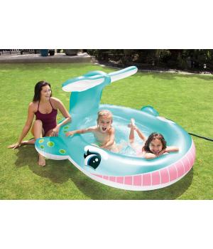Детский надувной бассейн кит, 201х196х91см, от 2 лет, Intex