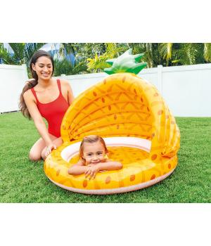 Детский бассейн с навесом Ананас, для маленьких детей, Intex