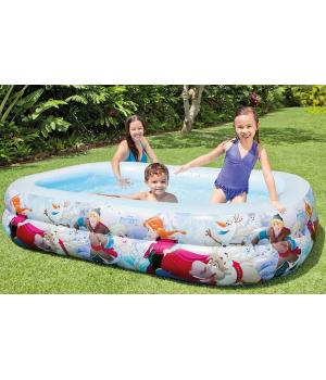 Летний надувной детский бассейн от 6 лет, 262*175*56 см, Intex