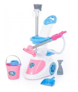 """Детский набор для уборки """"Помощница-5"""" с детским пылесосом, Полесье"""