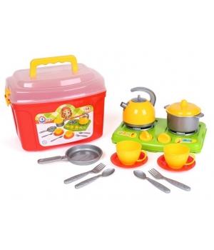Игровой набор посудки в чемоданчике, 14 элементов, Технок